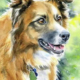 Harmony Dog Painting by Dora Hathazi Mendes
