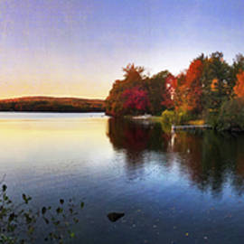 Harrisville, NH Autumn Panoramic by Joann Vitali