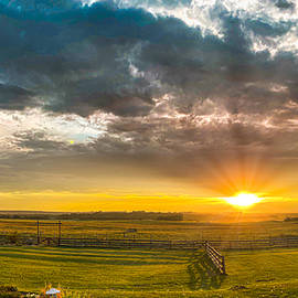 Harvest Sunset by Philip Rispin