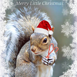Have Yourself a Merry Little Christmas Squirrel by Marilyn De Block