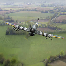 Hawker Typhoon over Normandy by Gary Eason