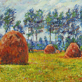 Haystacks by David Lloyd Glover