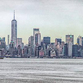 Haze Over Lower Manhattan by Sandi Kroll