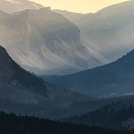 Hazy Beartooth Sunset by Matt Hammerstein
