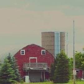 Hazy Day Barn by Curtis Tilleraas