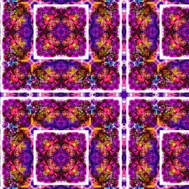 Heart of Gold Kaleidoscope Pattern 1 by Eileen Backman