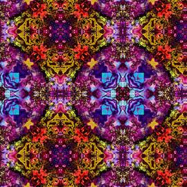 Heart of Gold Kaleidoscope Pattern 3 by Eileen Backman