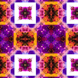 Heart of Gold Kaleidoscope Pattern 4 by Eileen Backman
