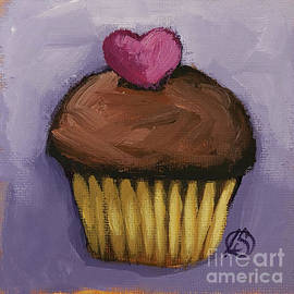 Heart on Chocolate by Lucia Stewart
