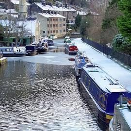 Hebden Bridge on a winter's day. by David Birchall