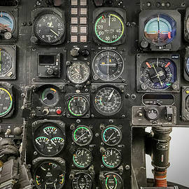 Helicopter Flight analogue instruments cockpit by Fasil Khan
