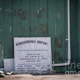 Hendersonville Airport Sign by Amy Dundon