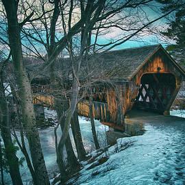 Henniker Covered Bridge - Henniker, NH by Joann Vitali