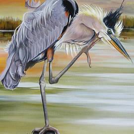 Heron Bleu by Phyllis Beiser