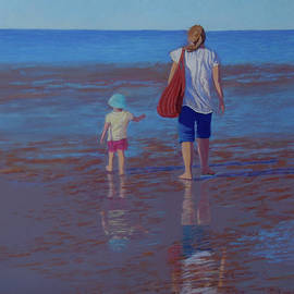 Hervey Bay Afternoon - Painting by Alison A Murphy