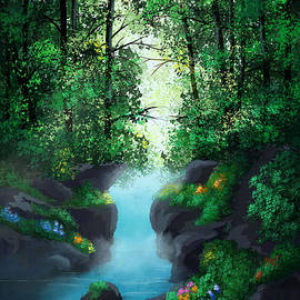 Hidden Waterfall  by Enara Grace