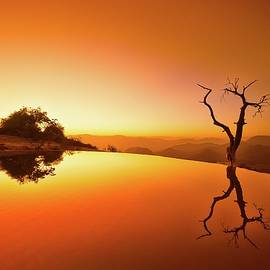 Hierve el agua, Mexico. by Christopher William Adach