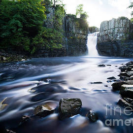 High Force waterfall, County Durham, England by Justin Foulkes