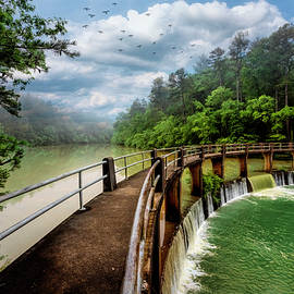 High Water at the Dam by Debra and Dave Vanderlaan