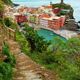 Hiking the Cinque Terre - Vernazza, Italy by Denise Strahm