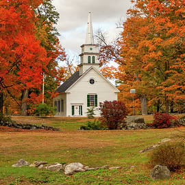 Hillsboro New Hampshire in the fall colors by Jeff Folger