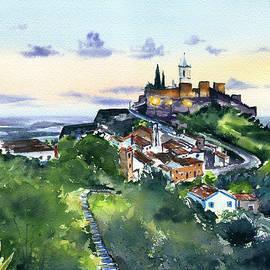 Hilltop Village of Monsaraz in Portugal by Dora Hathazi Mendes