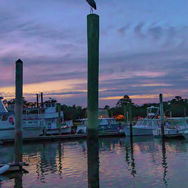 Hilton Head Harbor Sunset by Norma Brandsberg