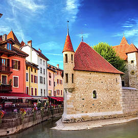 Historic Architecture of old Annecy France  by Carol Japp