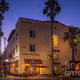 Historic KMI Building, Venice, FL, Sunset by Liesl Walsh