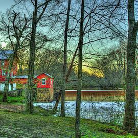 Historic Ogeechee Mill Sunset Ogeechee River Hancock County Art by Reid Callaway
