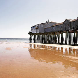 Historic Piers at Old Orchard Beach by Lisa Cuipa