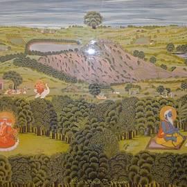 Historical painting of Lord Ganesha writing Mahabharat by Sonali Gangane