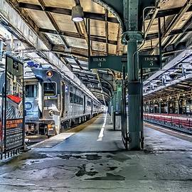 Hoboken, New Jersey subway terminal Tracks 3 and 4 by Geraldine Scull