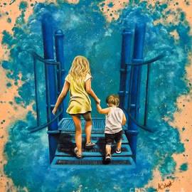 Holding Hands by Ashley Koebrick Schmidt