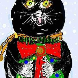 Holiday Cat by Kathy Barney