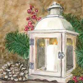 Holiday Lantern by Marcella Chapman