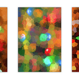 Holiday Tree Lights Triptych by Francis Sullivan