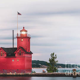 Holland Harbor Lighthouse in Holland, Michigan by Liesl Walsh