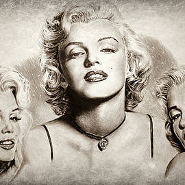 Hollywood legends Marilyn sepia 1 by Andrew Read