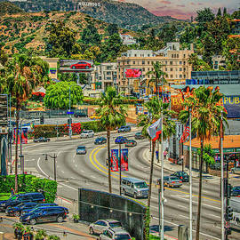 Hollywood Sign in Hollywood Hills by David Zanzinger