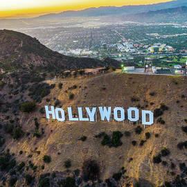 Hollywood Sign Sunset by Josh Fuhrman