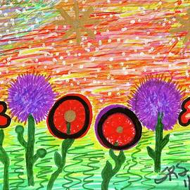 Homage To the Muses 11/Springtime Splendor by Susan Schanerman