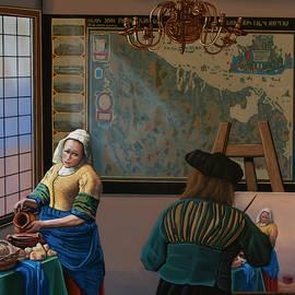 Homage to Vermeer Painting