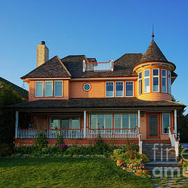 Homes of Mackinac Island 1 by Jane Tomlin