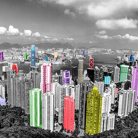 Hong Kong And Kowloon Skyscrapers by Paul Thompson
