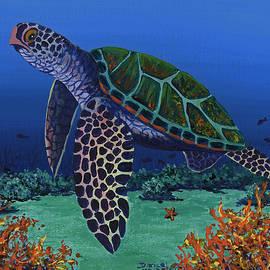 Honu and Coral Reef by Darice Machel McGuire