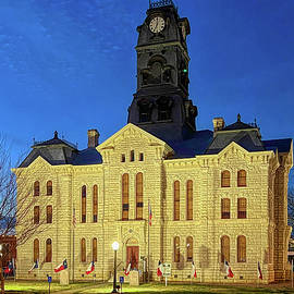 Hood County Courthouse at Night by Judy Vincent