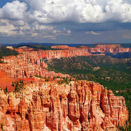 Hoodoos, Cliffs And Clouds by Douglas Taylor