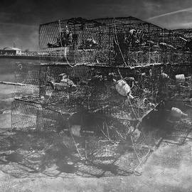 Hooper's Island Crab Pots - BW - by Brian Wallace