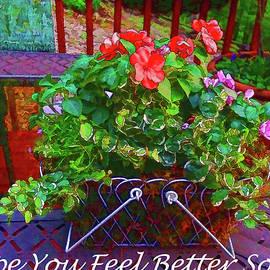 Hope You Feel Better Soon Flowering Basket by Jennifer Stackpole